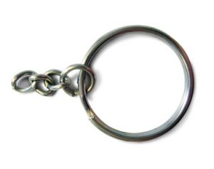 25mm split ring with chain